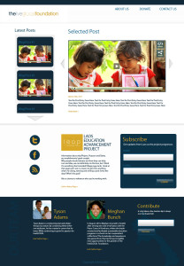 The LiveGlocal Foundation website design