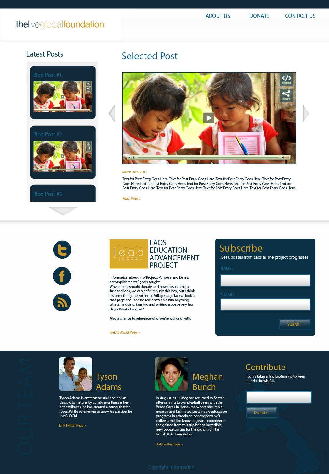 The LiveGlocal Foundation website design