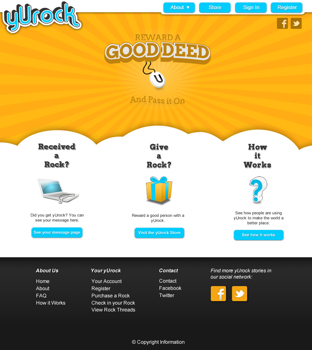 yUrock.com website design