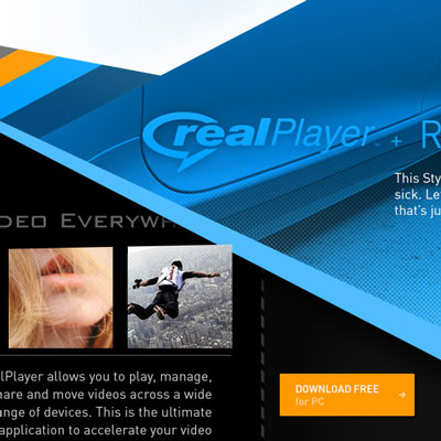 This thumbnail is taken from a visual test (or styletile) for my second full iteration of the Real.com website